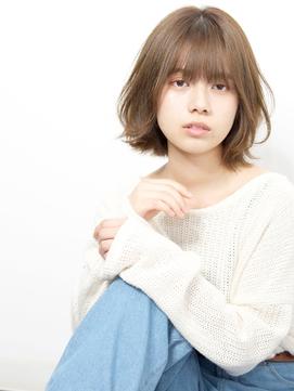 ★岡田有加20代30代40代/大人キレイなナチュラルボブ【面長】