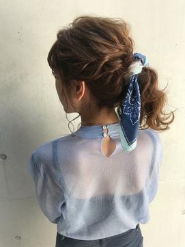 【STUD】スカーフアレンジポニー