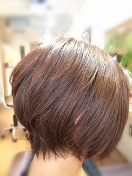 hair sos進化系  ショートボブ。