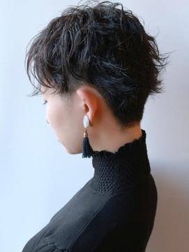 【morio成増】大人ショート 黒髪 刈り上げ α