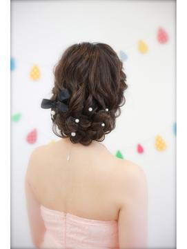 【sopo】前髪ありでもOK☆もこもこ編み込みヘアアレンジ結婚式に