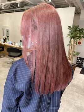 ピンク系カラー!ラベンダーサーモンピンクと髪質改善で美色