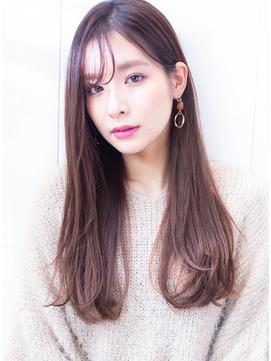 【透明感☆シースルー前髪】ヘーゼルベージュニュアンスカラー