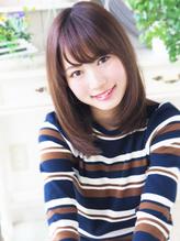 【ヘアジュレドゥ 古居 】 美自然なストレート大人女子セミディ 大人女子.58