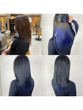 ■ツヤ髪オシャレヘアー★髪質改善ケア×ブルーインナーカラー■