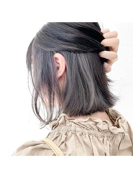 インナーカラーグレー/寒色系カラー/カラーバター【原宿】