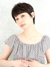 30代40代おススメの耳かけ黒髪夏ショートスタイル☆.5