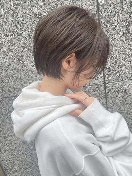 Lond島田敬之 大人美人耳かけショートボブ/毛先パーマ