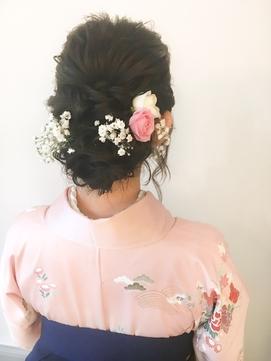 卒業式 ヘアセット 横浜 袴着付 生花 11