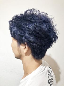 【EIGHT原宿】川上 メンズかき上げヘア × ネイビーカラー