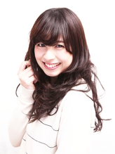 清楚に女子アナテイストロング巻き髪style【小岩】 女子アナ.13