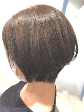 *お客様style*前下りグラボブカット+カラー+髪質改善TR
