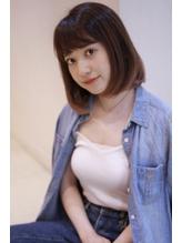 【四百倍スタイル】透明感カラーの大人可愛いナチュラルボブ.43