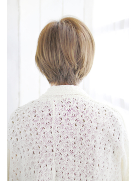 オン眉デザインカラー切りっぱなしボブ美髪マッシュウルフ/196
