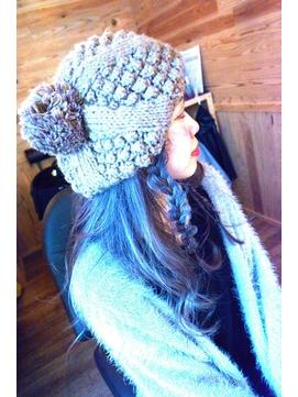 #belle chambre#ニット帽×三つ編みアレンジ★