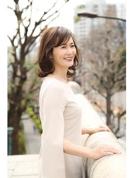 ミセスのレイヤーカット【池袋/イルミナカラー】