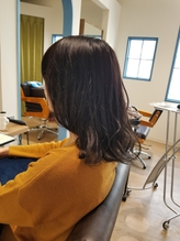 【モードヘア3Dカラージグザグバングミニマムボブボルドー】56.16