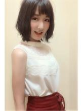 【morio池袋】小顔レイヤーボブショートバング ブラウンアッシュ.24