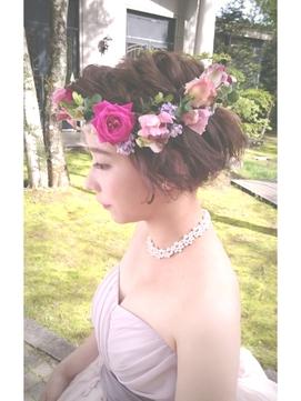 ウェディングヘアアレンジ☆ショートスタイル