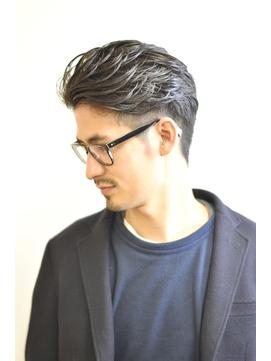 【STEP YOSHI】ビジネス オールバック パーマスタイル