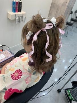お団子ツイン【クランソア】ヘアセット/ヘアメ/心斎橋/なんば