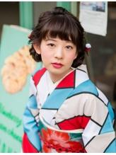 【着物ヘア】あみこみお団子レトロヘア .7