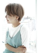 透け感オリーブ&無造作ハイライト#4.56