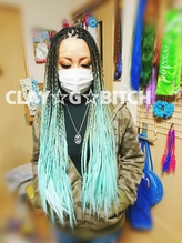 仙台BRAIDS BRAIDSロング 編み込み 特殊hair オンブレブレイズ.0