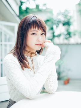 【Dita】大人かわいい短めバング暖色系カラー