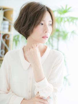 【浅草美容院HANARE】グラデハイライト×フェザーボブ♪c