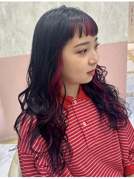Lee梅田★インナーカラー×黒髪ロング
