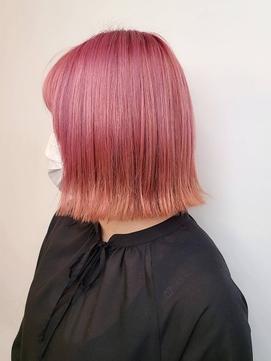 ピンクカラーハイトーンカラー ダブルカラー フラミンゴカラー