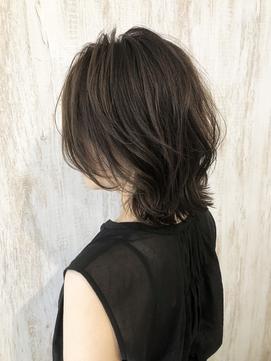 【rin.】ウルフボブ×グレーブラウン