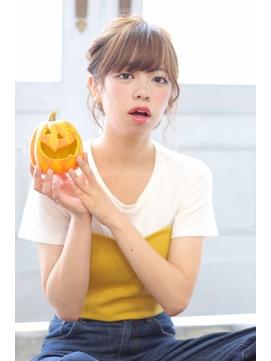 ☆ハロウィンヘアアレンジ☆ボブでもルーズアップスタイルに。