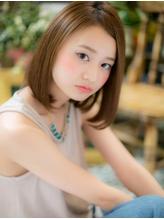 *+COVER HAIR+*…ツヤ色☆ワンレンボブa イエローアッシュ.3
