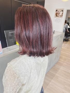 暖色系カラー/韓国風カラー/チェリーブラウン