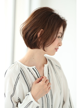 【lien.相楽】アゴラインボブ/小顔/オリーブカラー