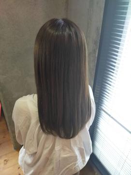 【 マットグレージュ 】 × 【 大人つや髪 】 semi-long ♪