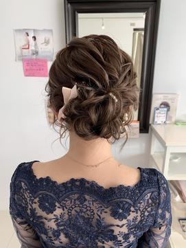 結婚式 ドレスヘア パーティー 二次会 外国人風 大人可愛い