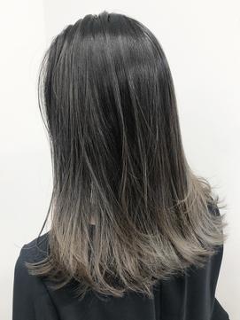 暗めカラー/黒髪/メッシュカラー/ネビージュ/ハイライトカラー