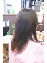 営業ビフォーアフター、伸ばしかけハネル髪に縮毛矯正 中学生.5