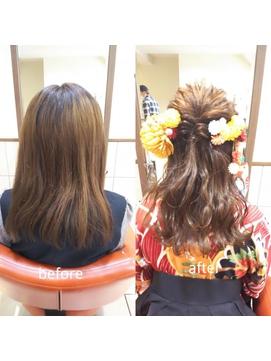 【neolive cino】卒業式 ハーフアップヘアアレンジ☆