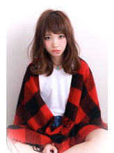 【LLAND】ゆるふわミディフェアリーデジタルパーマ スウィート.45