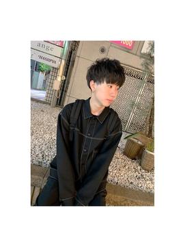 __ 無造作黒髪マッシュ __
