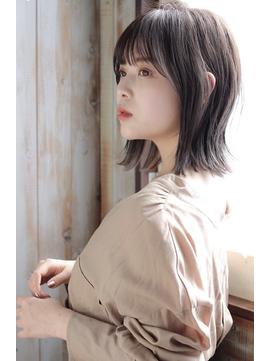 大人ボブ×シースルーバング×ベージュ【グランアージュ錦糸町】
