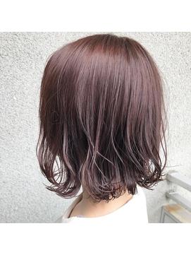 艶髪カラー×ゆるふわボブ
