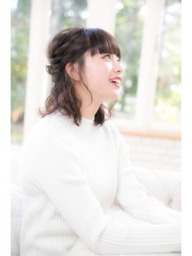 【謝恩会◎結婚式◎パーティ◎】編み込みセットスタイル
