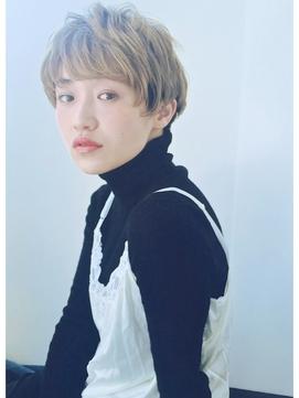 【VISION】小顔マッシュショート/シルキーベージュ