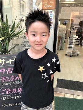キッズカット☆男の子ツーブロショート☆【Grapevine新小岩】
