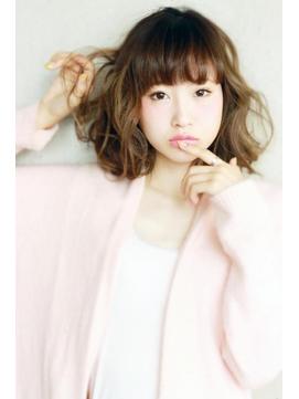 若く見える髪型紗栄子風甘かわミディ/横浜美容院ラムデリカ